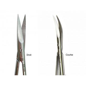 Ciseaux iridectomie et ligatures