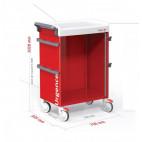 Charriot d'urgence avec équipement de base