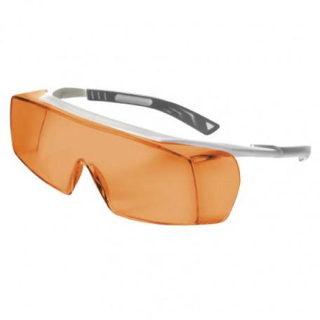 Lunettes et surlunettes laser EXIMER/ARGON/KTP Filtre orange - longueur d'ondes 190 à 351nm