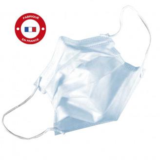 Masques de chirurgie à élastiques Type II R 3 plis.