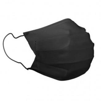 Masque médical noir à élastiques type II de classe I
